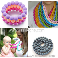 Silicone Gift necklace jewelry for baby teeth chewing