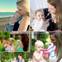 Silicone teething silicone necklace bpa free