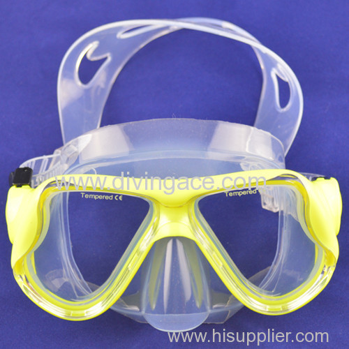 Tempered glass diving mask scuba diving mask with wide sight