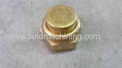 Yello Brass nut with female thread