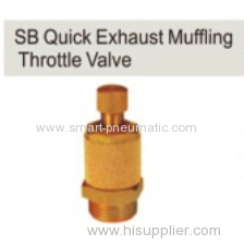 Quick Exhaust Muffling Throttle Valve