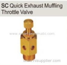 pneumatic muffler brass quick