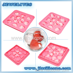 Heart silicone ice cube mold with many cubes China