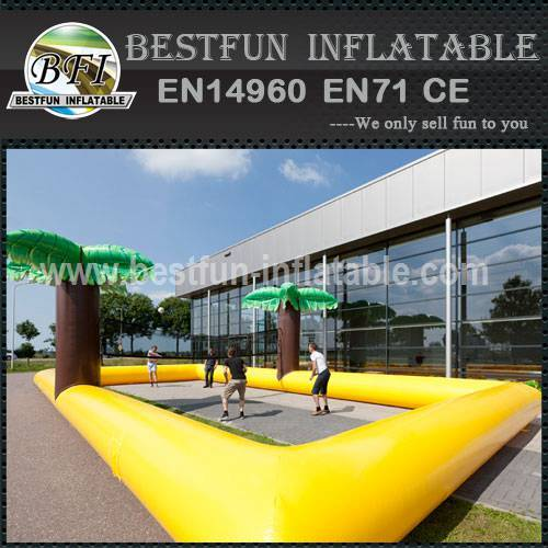 Inflatable beach volleyball field