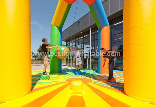 Inflatable demolition ball game