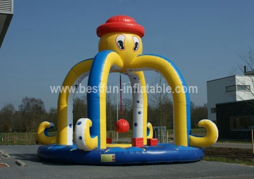 Octopus inflatable dodge ball game