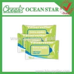 custom promotional item wet wipe