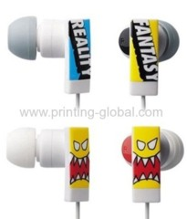 Hot stamping film for ABS earphone with vivid design