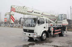 Wolwa 12ton hydraulic truck crane with low price