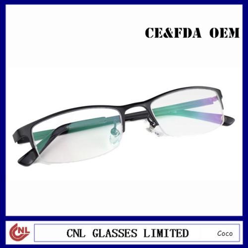 Black Half Rim Metal Frame Cheap Mens Reading Glasses