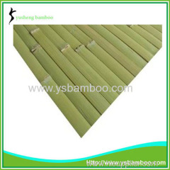 green bamboo wall covering
