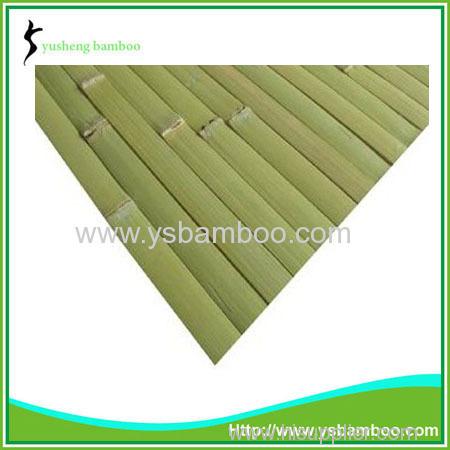 green bamboo wall covering