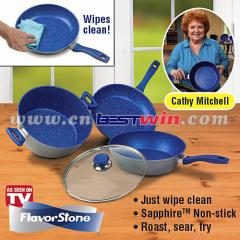 Aluminum non-stick pans fry pans flavor stone cookware