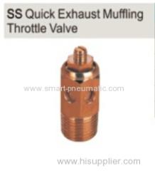 SS Quick Exhaust Muffling Throttle Valve