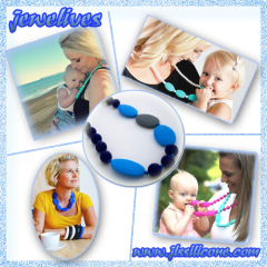 Silicone teething beads necklace jewelry manufacturer & supplier China
