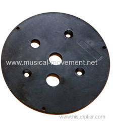 Plastic Disc Base For Spring Driven Ceramic or Polyresin Musical Gifts