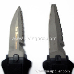 plastic handle diving knife with plastic sheath