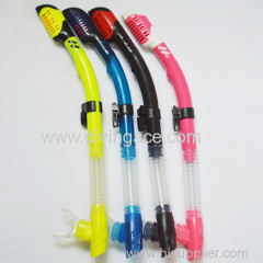 Comfortable silicone diving snorkel for adult