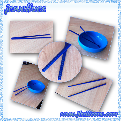 Silicone & Rubber Long Chopesticks in Colorful