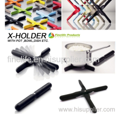 Hot selling silicone cross pot pad