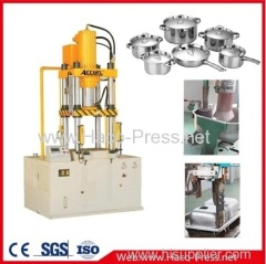 Four column hydraulic press 100t deep drawing hydraulic press kitchen utensils wheel barrow tray
