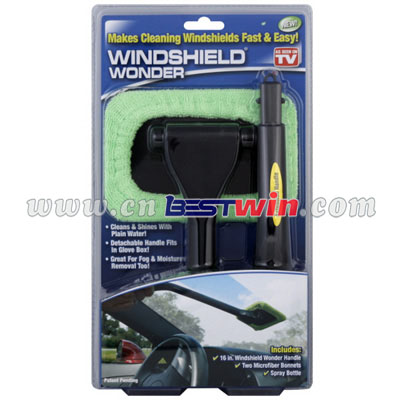 windshield wonder microfiber cloth/straight shank car brush