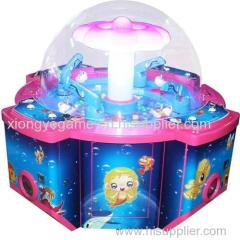 2014 new coming popular rainbow paradise toy claw crane game machine for 4 kids