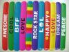 slap bracelets customized wristbands