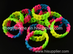 silicone rubber band girls' bracelet