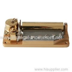 LARGE WIND UP MUSIC BOX MECHANISM DELUXE 50 NOTE
