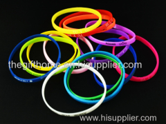 custom letter bracelets/ custom silicone wristbands/ personalized teaching tool