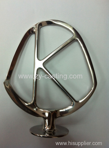 "stainless steel 304 shape like a ""K"" surface smooth and lighting silica sol casting"
