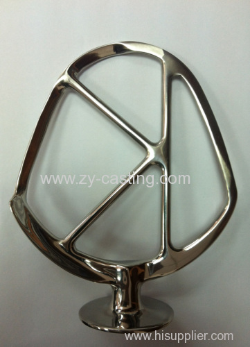 """stainless steel 304 shape like a """"K"""" surface smooth and lighting silica sol casting"""