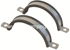 Split clamp for suspension ducting