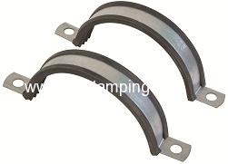 Split clamp for suspension ducting