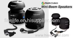 Black Portable Mini-boom Bass Speakers for iPod iPhone Laptop PC Mini SPEAKER