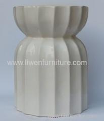 Antique white porcelain stool