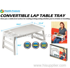 Convertible Lap Table Tray For Commodity / Plastic Folding Tray Tables  /dining Table Tray