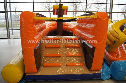 Cheap inflatable fun park adventure inflatable playground