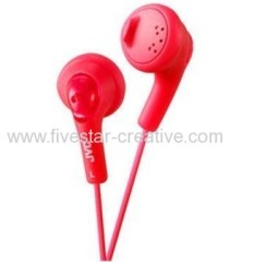 JVC HA-F160R Gumy Ear Bud Headphones Red