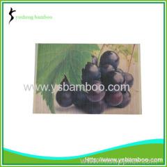 charming grape pattern bamboo mat