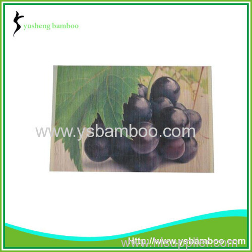charming grape pattern bamboo mat