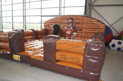 Playground inflatable rodeo mechanical bull
