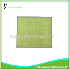 Charming natural bamboo green mat