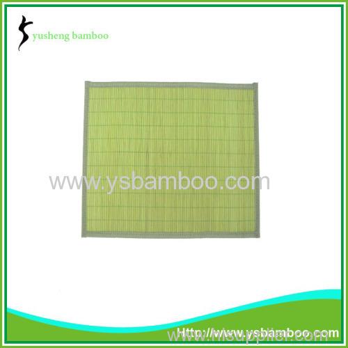 Charming natural bamboo green mat
