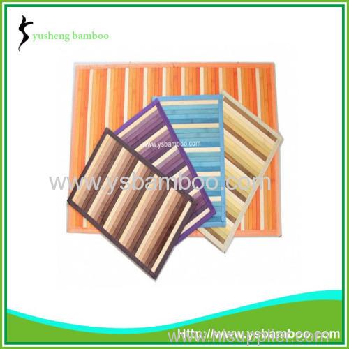 Strip pattern bamboo mat