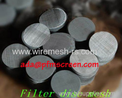 316L stainless steel filter mesh discs