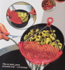 One hand holder silicone pot strainer new 2014