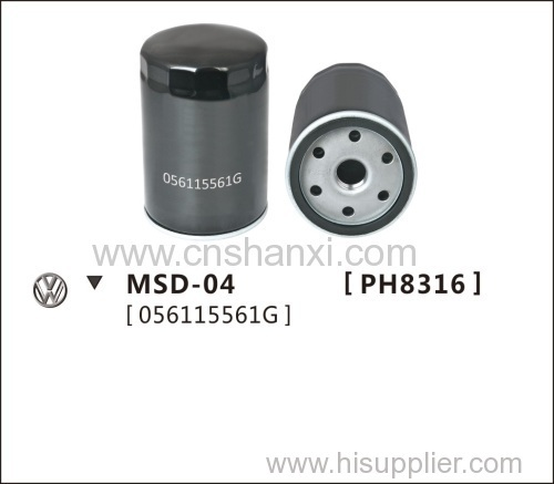 Oil filter for SANTANA ordinary 1.6 .Jetta 1.6