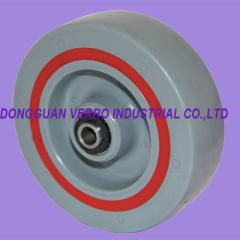 Polypropylene wheels with TPE damping ring